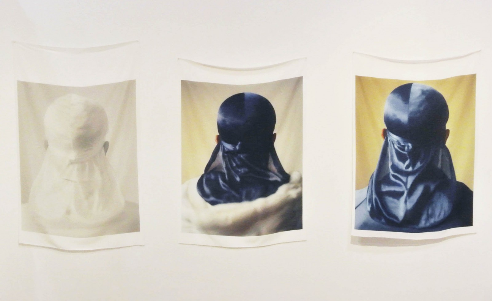 Image: John Edmonds, Untitled (Du-Rag 1), Untitled (Du-Rag 2), and Untitled (Du-Rag 3), 2017. Archival pigment print on Japanese silkl, 50 x 40 inches each. Courtesy of ltd los angeles. Acquired by the Art Gallery of Ontario.